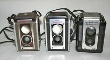 Lot of 3 Vintage 1950's Reflex Cameras 2 Kodak and 1 Argus