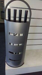 fire place tool set shovel poker broom stand metal
