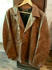 Mens Vintage Reed Sportswear Brown Leather Lined Jacket Size 46