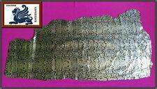 Calfleder Reptil Echt Leder Lederhaut Silber Schwarz Schlangenopt. 80x40/55 AN10