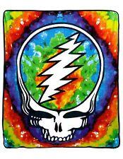 Grateful Dead Fleece Throw Blanket Tie Dye SYF Skull 50 x 60 inches Hippie Gift
