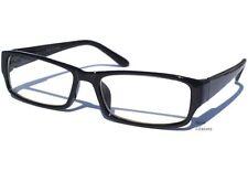 BLACK FRAME CLEAR LENS GLASSES Polite Hipster Retro Smart Nerd Style Fashion NEW