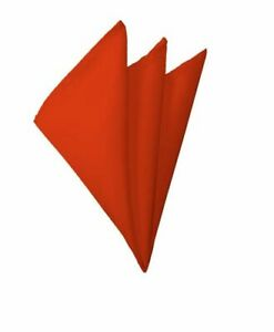Manzini® Neckwear Bold Solid Color Polyester Formal Handkerchief / Pocket Square