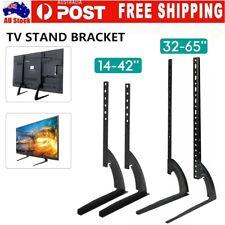 "Universal Table Top TV Stand Bracket Leg Mount LED LCD Flat TV Screen 14-65"" AU"