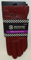 "Isotoner Signature Women's Leather Dress Gloves ""Really Red"" L Size 8 NWT"
