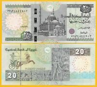 Egypt 20 Pounds p-74 2018 (Date 31.1.2018) UNC Banknote