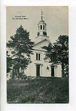 North Reading MA Mass Grange Hall, antique postcard, early