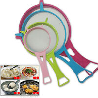 4pcs/set Different Sizes Plastic Fine Mesh Strainer Sieve Kitchen Tool OO