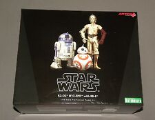 Kotobukiya R2-D2 & C-3PO with BB-8 Pre Painted Model Droid Kit ArtFX Star Wars