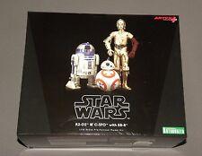 Kotobukiya R2-D2 & C-3PO with BB-8 Pre Painted Model Droid Kit ArtFX Star Wars