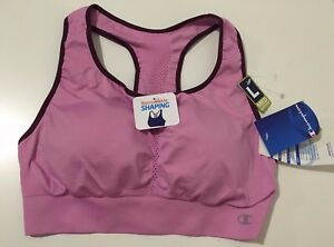CHAMPION WOMENS MED SUPPORT VIOLET ATHLETIC SPORTS BRA TOP SIZE L -WORLD'S BEST-