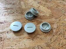 5 Kunststoff Blindstopfen Blinddeckel PG21in lichtgrau #103