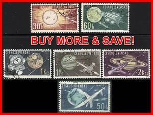 👉 CZECHOSLOVAKIA 1973 SPACE PLANET PROBES / ASTRONOMY  try not to watch IT