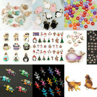 100Pcs 3D Metal Mixed Charm Bulk Pendant Jewelry Findings DIY Craft Accessories