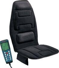 Massage Chair Cushion Heat Back Neck Lumbar Home Car Memory Foam Black Treatment