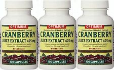 Optimum Cranberry Juice Extract, 425 Mg Capsules, 100ct ( 3 pack )