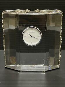 Orrefors Olle Alberius Crystal Clock Australian Flynn Sterling Silver Platypus