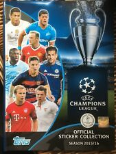EMPTY PANINI ALBUM CHAMPIONS LEAGUE 2015/16 TOPPS - SPECIAL HARDBACK EDITION