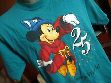 MENS MEDIUM Vtg Mickey INC Walt Disney World 25th Anniversary Fantasia T-Shirt