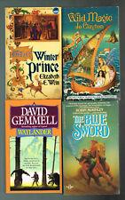 4 Paperback Novels David Gemmell,Robin McKinley,Jo Clayton & Elizabeth E. Wren