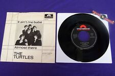 """The Turtles It Ain't Me Babe/ Almost There 7"""" Vinyl Single Piranha Records"""