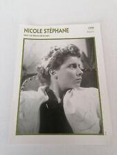 Nicole Stéphanie - Fiche cinéma - Portraits de stars 13 cm x 18 cm
