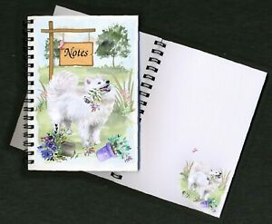 Samoyed Dog Notebook/Notepad + small image on each page by Starprint