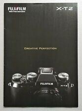 Fujifilm X-T2 Mirrorless Digital Camera Brochure - Full Color Original - 35 pgs