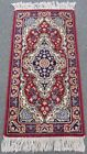 VINTAGE WILTON RUG RUNNER. FULL LABEL AND NICE CLEAN CONDITION