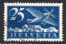 Switzerland 25 Cent Used Air Mail Stamp c1923-25 (1782)
