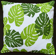 LF814a  White  Light Green Blue leaf Cotton Canvas Cushion Cover/Pillow Cover