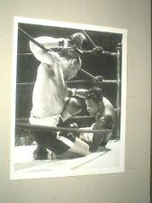 photo presse vintage 1957 boxe boxing RAY SUGAR ROBINSON x GENE FULLMER new york