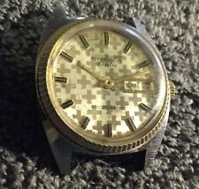 VINTAGE KRONOTRON ELECTRA CALENDAR AUTOMATIC WATCH - WORKS GREAT Hologram Face