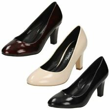Court Shoes Block Synthetic Upper Casual Heels for Women