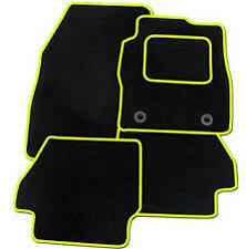 BMW E90 3 Series Saloon 2005 -2012 TAILORED CAR MATS- BLACK WITH YELLOW TRIM