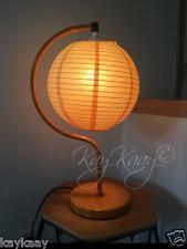 "PO Unique Orange ORIENTAL PAPER LANTERN Naguchi Inspired Globe 20"" Tabletop Lamp"