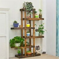 "52"" Tall Reinforce Wood Flower Plant Stand 6 Tier Corner Shelf Rack Garden Home"