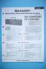 Service-Manual-Instructions pour Sharp GX-CD60H/CP-CD60 ,ORIGINAL
