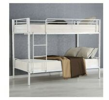 Giantex Metal Twin Over Twin Bunk Bed Modern Metal Steel Beds Frame with Ladder