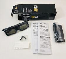 NEW - Sharp AQUOS 3-D 3D Bluetooth Glasses Active Shutter Model AN-3DG40