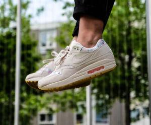 Nike Air Max 1 Desert Sand Camo Floral Suede Uk Size 7.5 Eur 42 AQ6378-001