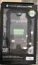 Mophie Juice Pack PRO Battery Case & Belt Clip iPhone 4s/4-2500mAh-Black Unused
