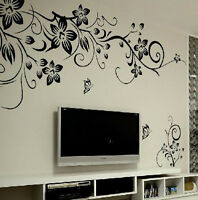 DIY Art Wall Decal Decor Room Stickers Vinyl Removable Home Mural Flower Vine、FO