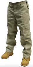 "NEW Mens Army Style Combat Cargo Trousers - Beige / Khaki 30"" Waist"
