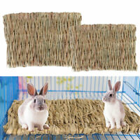 Small Animal Hamster Grass Chew Mat Breakers Pet Rabbit Rat Guinea Pig House Pad