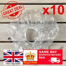 10 x Elastic Disposable Shower Caps Hat Waterproof Clear Hair UK