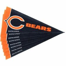 Chicago Bears NFL 4x9 Mini PENNANT Banner Flag Set (8) FREE US SHIPPING