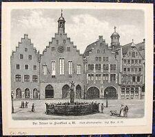 FRANKFURT / Main. Römer. Originaler Holzstich von ca. 1890