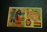 Vintage Cigarettes Card. BOLIVIA. REGIONS OF THE WORLD COLLECTION. (Rare).