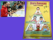 BOB'S BURGERS Food Pyramid sdcc 2014 FOX Exclusive signed Poster LOREN BOUCHARD